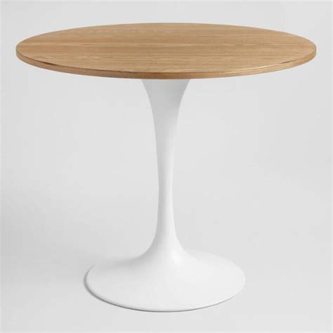 Tisch Weiss Holz by Wood And White Metal Leilani Tulip Dining Table World Market