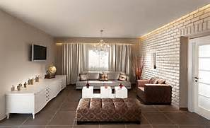 Living Room Design Brick Wall Interior Chic Living Room With White Painted Brick Wall