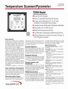 Temperature Scanner  Pyrometer Tdxm Manuals