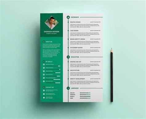 clean resume design template  psd format good resume