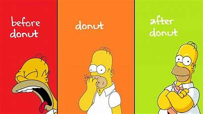 Homer Simpson Donuts Simpsons Hungry Yellow Wallpapers