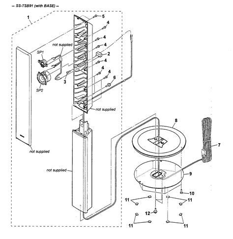 Speaker Part Diagram by Sony Speaker Parts Model Sstsb91 Sears Partsdirect