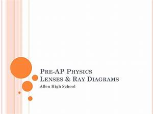 Ppt - Pre-ap Physics Lenses  U0026 Ray Diagrams Powerpoint Presentation