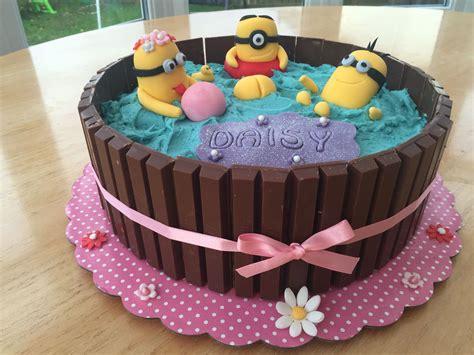 Despicable me 2 3d minion birthday cake decorating tutorial. Minion hot tub cake | Cake, Birthday cake, Cake design