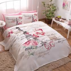 paris pink coverlet set  fitted sheet pillowcases
