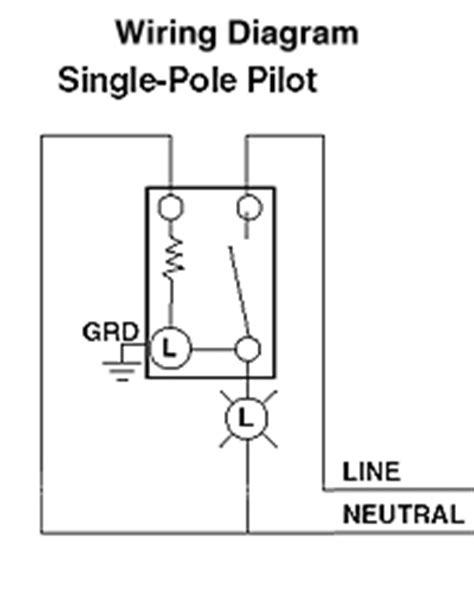 Illuminated Wall Switch Wiring Diagram by Leviton 1201 Plc 15 120 Volt Toggle Pilot Light