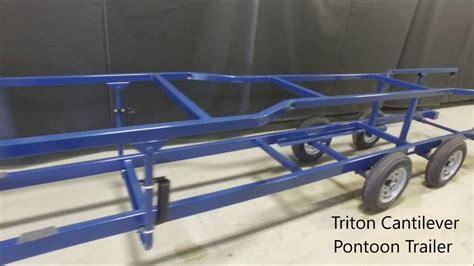 Triton Pontoon Trailers by Triton Cantilever Pontoon Trailer