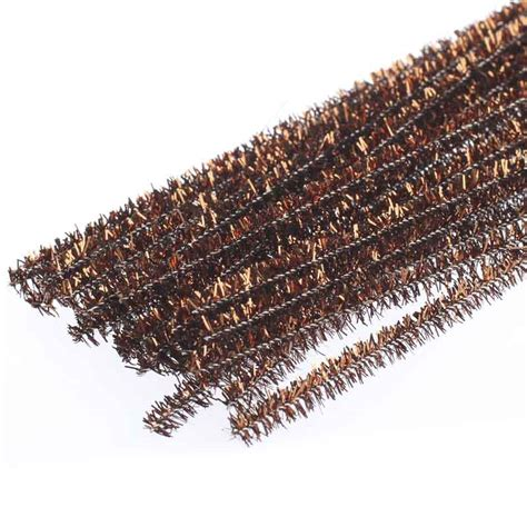 brown metallic tinsel pipe cleaners pipe cleaners