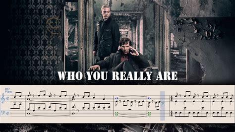 {sherlock} Who You Really Are Piano Sheet Music Youtube