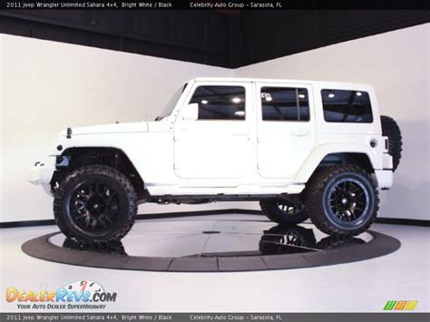 white and black jeep wrangler 2011 jeep wrangler unlimited sahara 4x4 bright white