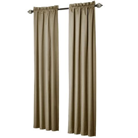sun zero brighton taupe thermal lined curtain panel price