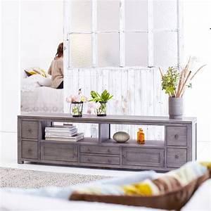 Meuble Tele Gris : soldes meuble tv la redoute meuble tv miro tikamoon ~ Teatrodelosmanantiales.com Idées de Décoration