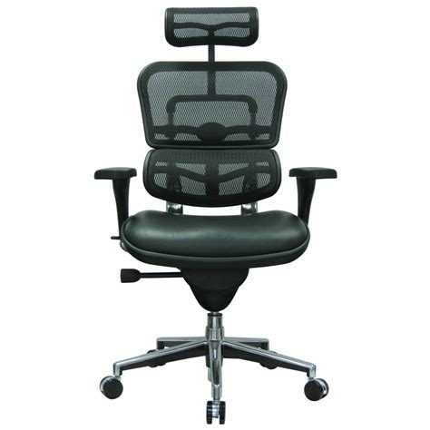 modern ergohuman leather leather seat swivel chair with