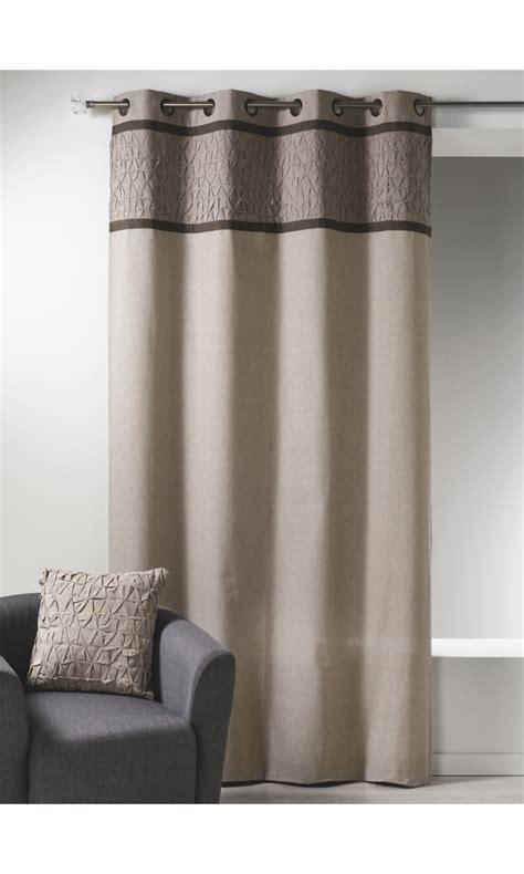 rideau bouchara en toile de coton avec parement 224 plis