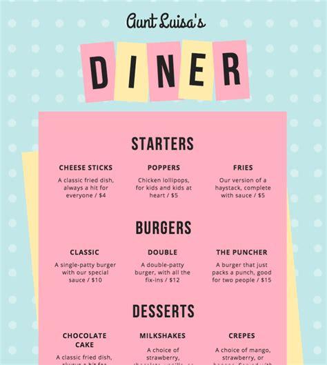 Menu Carte Restaurant Anglais by Cr 233 Er Gratuitement Et En Ligne Une Carte De Restaurant