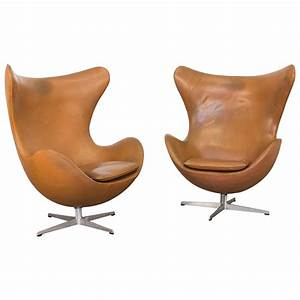 Egg Chair Arne Jacobsen : vintage leather egg chairs by arne jacobsen for sale at 1stdibs ~ Bigdaddyawards.com Haus und Dekorationen