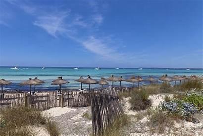 Nudist Trenc Es Beach Beaches Mallorca Spain