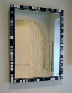 black and white mosaic bathroom mirror jo bund