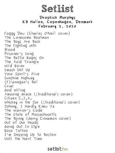 Dropkick Murphys 2020 European Tour and Setlist Highlights