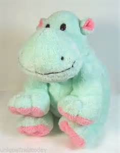 Green Ty Hippo Stuffed Animal