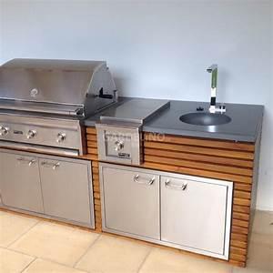 Edelstahl Outdoor Küche : outdoork che aus holz mit einbau gasgrill von lynx grill ~ Sanjose-hotels-ca.com Haus und Dekorationen