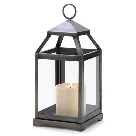 rustic silver candle lantern upc 849179010775