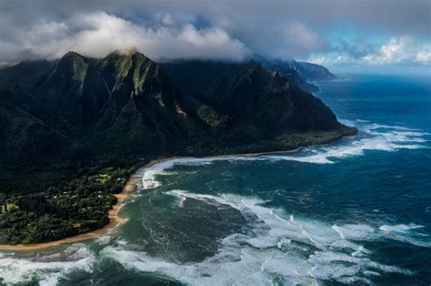 nature, Hawaii, Landscape, Mountains, Clouds, Water ...
