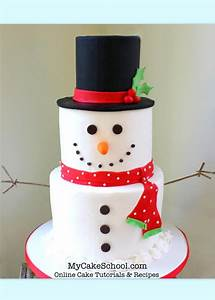 Tiered, Snowman, Cake, Video, Tutorial, By, My, Cake, School