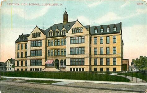 Ohio, Oh, Cleveland, Lincoln High School Early Postcard