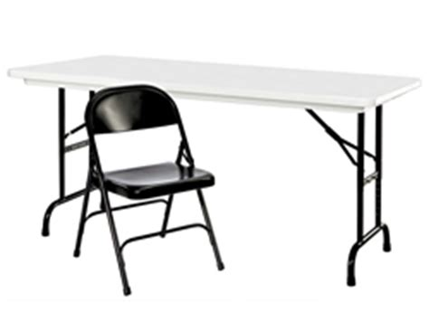uline tables and chairs deluxe folding tables chairs in stock uline