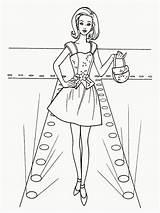 Coloring Mannequin Sheets Atom Getcolorings Printable Barbie sketch template