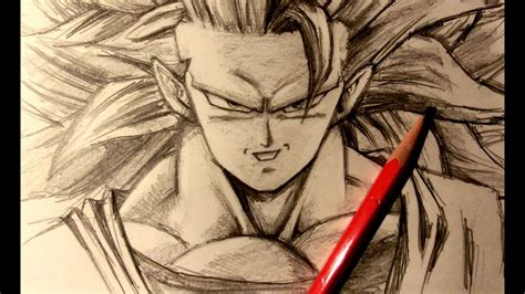 asmr pencil drawing  super saiyan  goku request