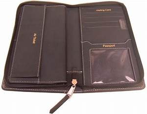 sukeshcraft a23 passport holder for 2 passport black With passport and document holder