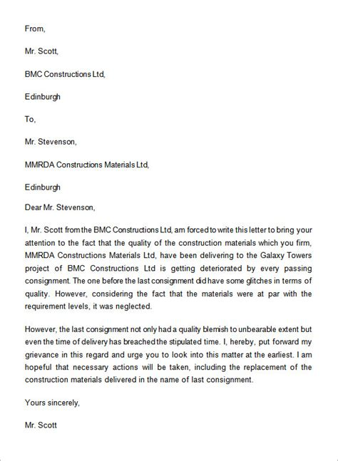 sample complaint letters   sample templates