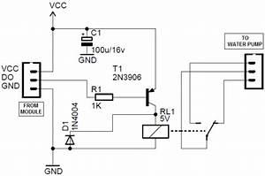 arduino soil moisture sensor module circuit With plant water alarm