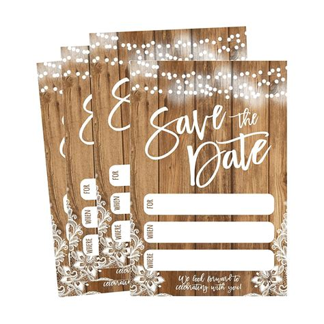 50 Rustic Save The Date Cards For Wedding Engagement