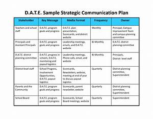 communication plan template cyberuse With communication action plan template