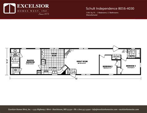 schult independence  single wide excelsior homes west
