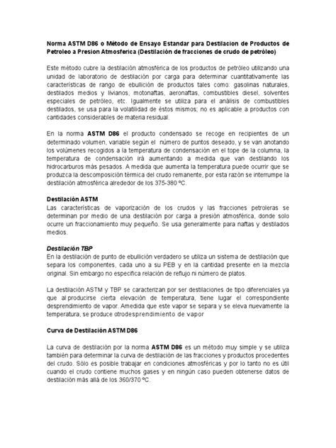 Norma Astm d86 | Destilación | Petróleo