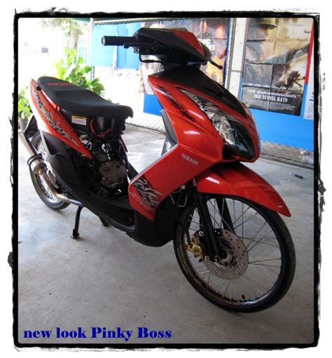 Modif Mio Soul Racing Look by Modifikasi Mio Thai Racing Look Velg 17 Jari Jari Klop