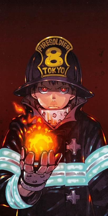 Force Fire Anime Wallpapers Manga Shinra Mobile