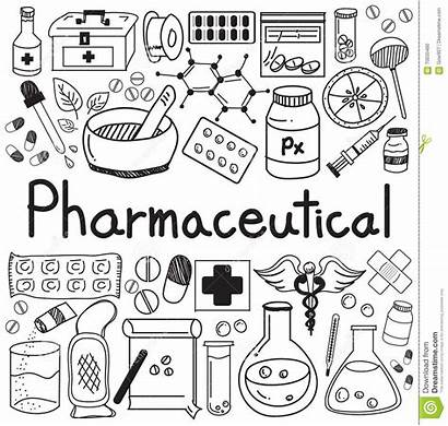 Doodle Pharmacist Background Pharmaceutical Tools Sign Health