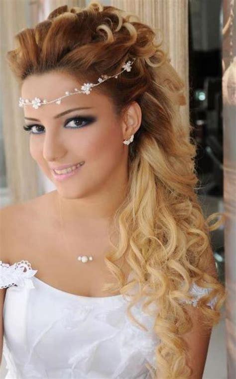 bridal hairstyle  long straight hair fade haircut