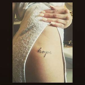 33+ Unique Word Hip Tattoos