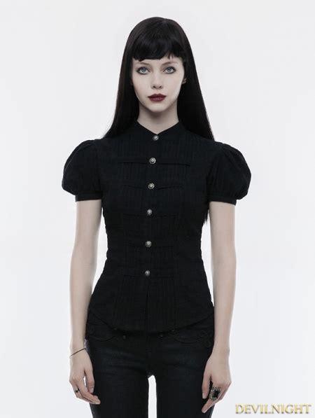 steampunk puff sleeve short blouse  women devilnight