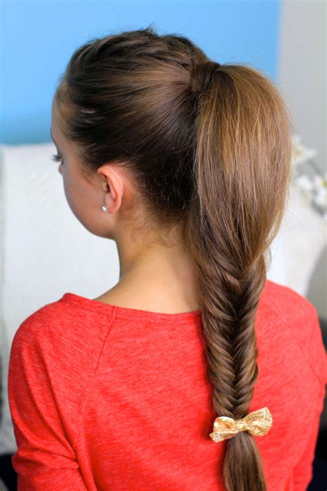 cutegirls hair styles fluffy fishtail braid hairstyles for hair