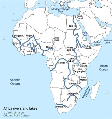 test  geography knowledge african rivers  lakes