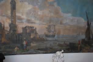 entree d un port entr 233 e d un port anim 233 toile peinte fin xviiie n 55411