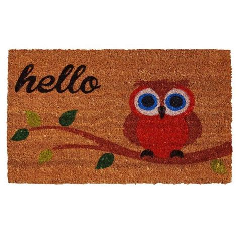 Owl Doormat by Shop Owl Hello Doormat 1 5 X 2 5 Free Shipping On