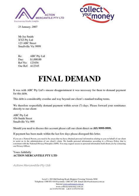 letter of demand demand letter before